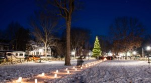 Over 400 Luminaries Are Lit During Woodstock Wassail Weekend In Vermont Every Year