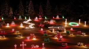 Even The Grinch Would Marvel At The Christmas Light Display At The La Salette shrine In New Hampshire