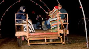 Enjoy Thousands Of Twinkling Lights On The Holiday Hayride At Lights On The Neuse In North Carolina