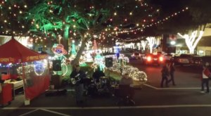 Stroll Through A Canopy Of Christmas Lights On Forest City's Main Street, North Carolina's Most Splendid Street