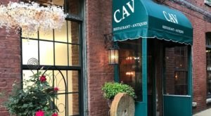 Dine While Surrounded By Antiques At CAV Restaurant In Rhode Island