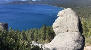 Hike To This Iconic Monkey-Shaped Rock In Nevada For A Fantastic View Of Lake Tahoe