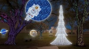 Galaxy Lights At Space Center Houston In Texas Is An Out Of This World Christmas Celebration