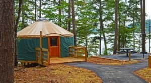Spend The Night In An Authentic Yurt In The Middle Of Georgia's Lake Hartwell