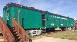 Spend The Night In An Authentic Railroad Caboose In The Middle Of Arizona's Route 66