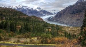 Drive A Rutted Gravel Road In Alaska Up To 4,300′ To See One Of Canada's Largest Glaciers