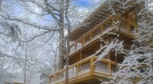 Snuggle Up For An Overnight Winter Escape In The Treetop Flyer Treehouse In Kentucky