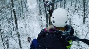 Take A Winter Zip Line Tour To Marvel Over Wisconsin's Majestic Snow Covered Landscape From Above