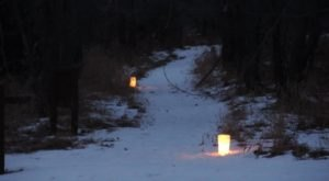 Celebrate The New Year By Taking a Lantern-Lit Hike Through Fort Stevenson State Park In North Dakota
