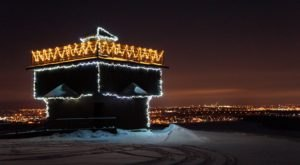 See The Beautiful Holiday Lights On The Historic Fort Abraham Lincoln After This Special Winter Hike