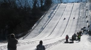 One Of The Longest Snow Tubing Runs In Iowa Can Be Found At Seven Oaks Recreation