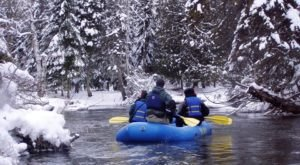 Take A Magical Winter Raft Trip Down The Sturgeon River With Big Bear Adventures In Michigan