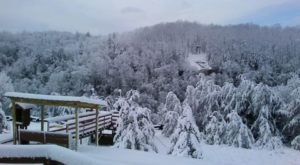 Take A Winter Zip Line Tour To Marvel Over Kentucky's Majestic Snow Covered Landscape From Above