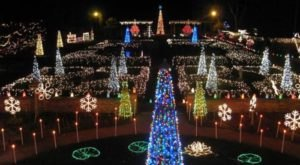 The Garden Christmas Light Display At Rotary Botanical Gardens In Wisconsin Is Pure Holiday Magic