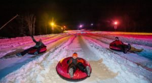 Try The Ultimate Nighttime Adventure With Galactic Snow Tubing At Snowshoe Mountain In West Virginia