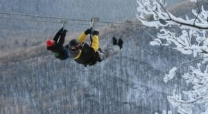 Take A Winter Zip Line Tour To Marvel Over New York's Majestic Snow Covered Landscape From Above