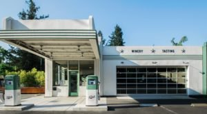 Enjoy A Wine Tasting Inside A Vintage Gas Station At Tank Garage Winery In Northern California
