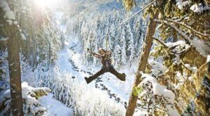 Take A Winter Zip Line Tour To Marvel Over Missouri's Majestic Snow Covered Landscape From Above