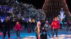 Visit The Gigantic 22,000 Square-Foot Ice Skating Rink At Kings Dominion WinterFest In Virginia
