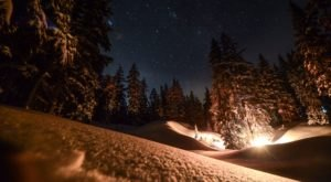 Snowshoe Under The Stars And Enjoy A Cozy Campfire After With Wanderlust Tours In Oregon