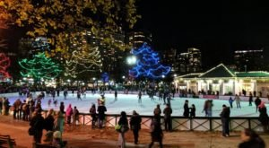 There's No Better Way To Embrace Winter In Massachusetts Than Ice Skating On Boston Frog Pond