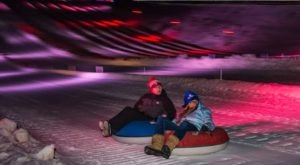 Try The Ultimate Nighttime Adventure With Lazer Snow Tubing At Great Bear Ski Valley In South Dakota