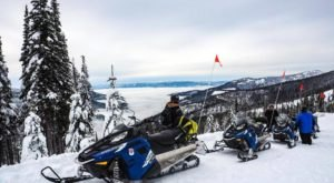 Enjoy Snowy Views Of Lake Pend Oreille On This Guided Snowmobile Tour From Selkirk Powder In Idaho