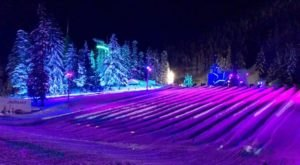 Try The Ultimate Nighttime Adventure With Cosmic Tubing At Mt. Hood Skibowl In Oregon