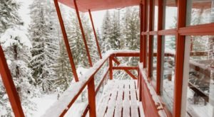 Have A Cozy Overnight Stay At A Fire Lookout Tower With A Wood-Fired Sauna In The Idaho Mountains