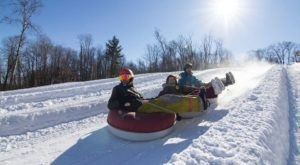 With A Vertical Drop Of More Than 100 Feet, The Most Exciting Tubing In Wisconsin Is Found At Nordic Mountain
