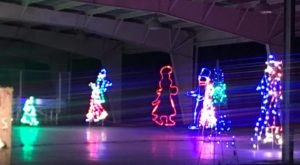 Wind Your Way Through The Twinkling Christmas Lights In The Park Drive-Thru Display In Missouri