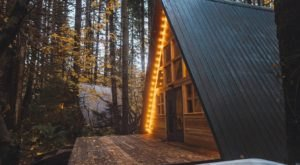 Spend The Night In A Secluded Nature Lover's Paradise At This A-Frame Cabin In Washington