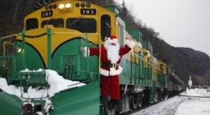 Hop On The White Pass Santa Train And Hang Out With Santa In Skagway, Alaska