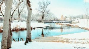 For A Stunning Stroll Through A Winter Wonderland, Head To Utah's Liberty Park This Season