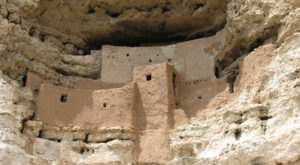 Arizona's Montezuma Castle National Monument Is A 20-Room Cliff Dwelling From Prehistoric Times