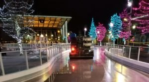 The Ice Skating Ribbon At Indian Creek Plaza In Idaho Is Positively Enchanting