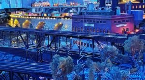 Bask In The Warm Glow Of Holiday Lights At Night Trains, A Christmas-Themed Train Attraction In Minnesota