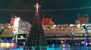 The Historic Ship With A Haunted Past, The Queen Mary, Turns Into A Christmas Wonderland Each Year In Southern California