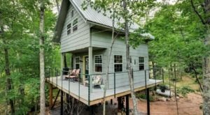 Have A Luxurious Night In Boulder Ridge Treehouse, A Retreat In The Treetops of Wisconsin