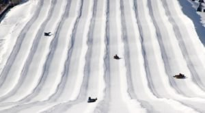 The Longest Snow Tubing Run In Indiana Can Be Found At Perfect North Slopes