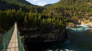 The Longest Swinging Bridge In Montana Can Be Found At Kootenai Falls And The Views Are Unbeatable