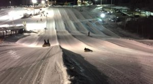 Try The Ultimate Nighttime Adventure With Night Snow Tubing At Seacoast Adventure In Maine