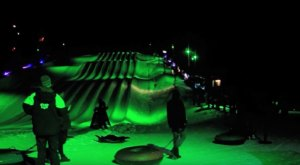 Try The Ultimate Nighttime Adventure With Northern Lights Snow Tubing At Massanutten In Virginia