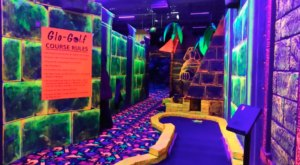 Explore A Neon Wonderland When You Play Glo Golf At Zap Zone In Michigan