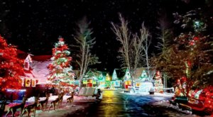 The Garden Christmas Light Displays At Santa's Village In New Hampshire Is Pure Holiday Magic