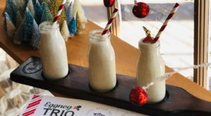 This Holiday, Try The Eggnog Flights At The Gabriel Archer Tavern, One Of The Most Festive Spots In Virginia