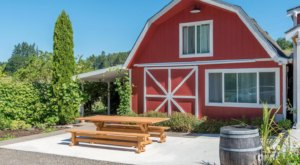 You'll Be In Rural Bliss When You Stay Overnight In This Charming Red Barn On An Oregon Farm