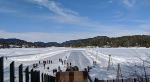 Ride The Longest Toboggan Chute In New York At Lake Placid's Waterfront For A Day Of Pure Fun