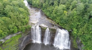 Travel Off The Beaten Path To Discover A Waterfall In New York Most Have Never Heard Of, Salmon River Falls