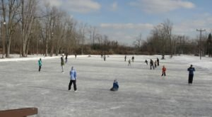Glide Across A Natural Ice Skating Rink This Winter At Akron Falls Park Near Buffalo